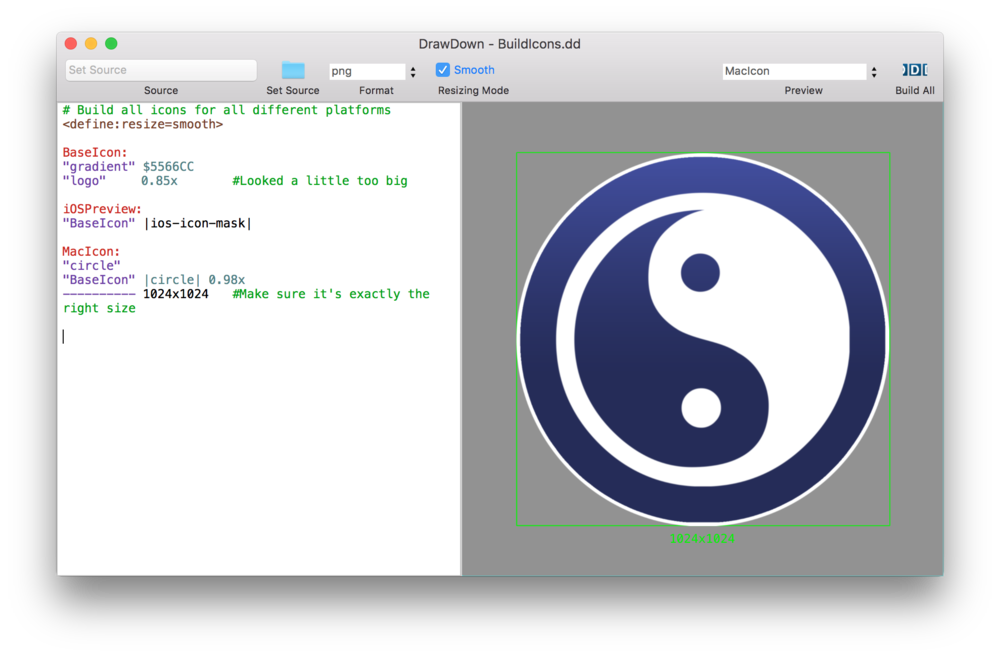 How to create a png image on mac. Automatically all your ios