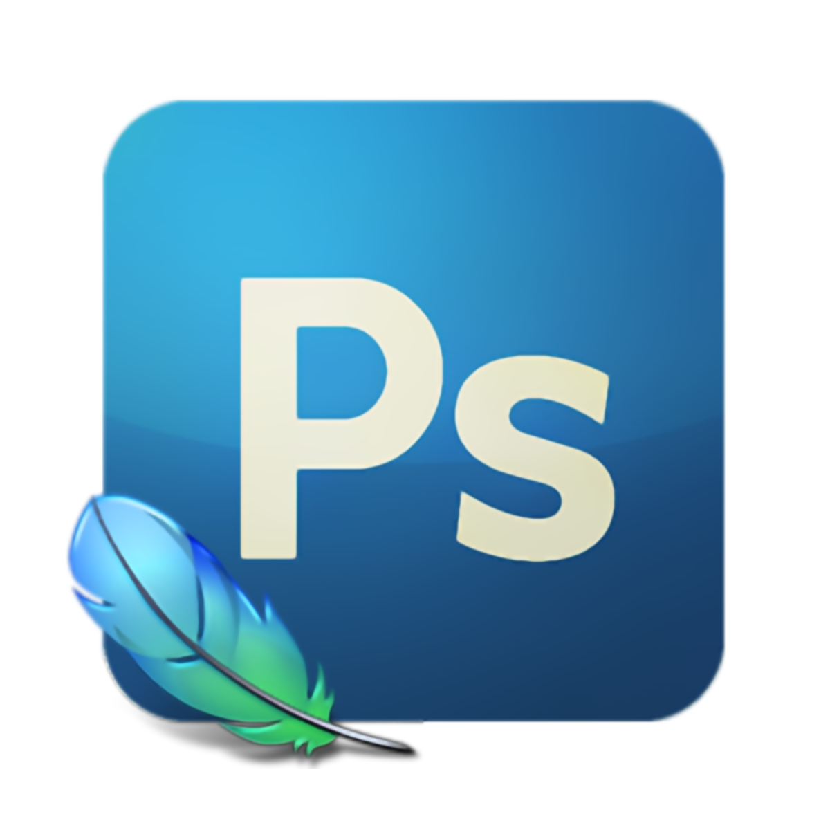 How to create a png logo in photoshop. Animation tutorial quickly simple