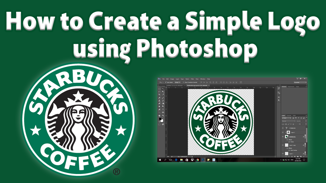 How to create a png logo in photoshop. Creating using ev learners