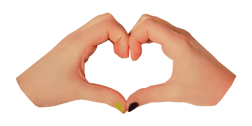 Making png transparent. Hands heart background image