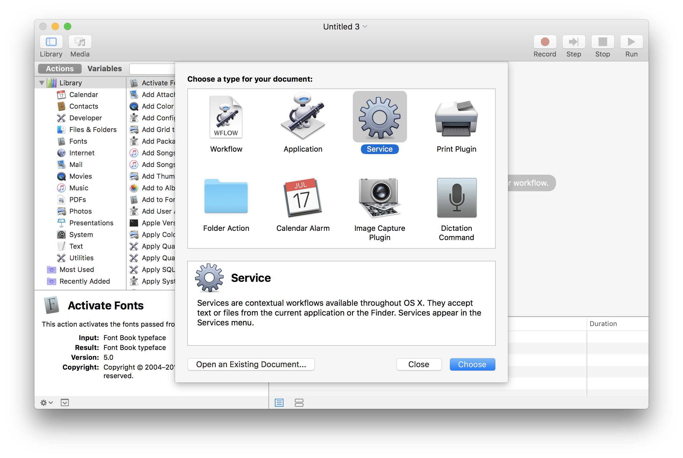How to create png image on mac. Context menu items in