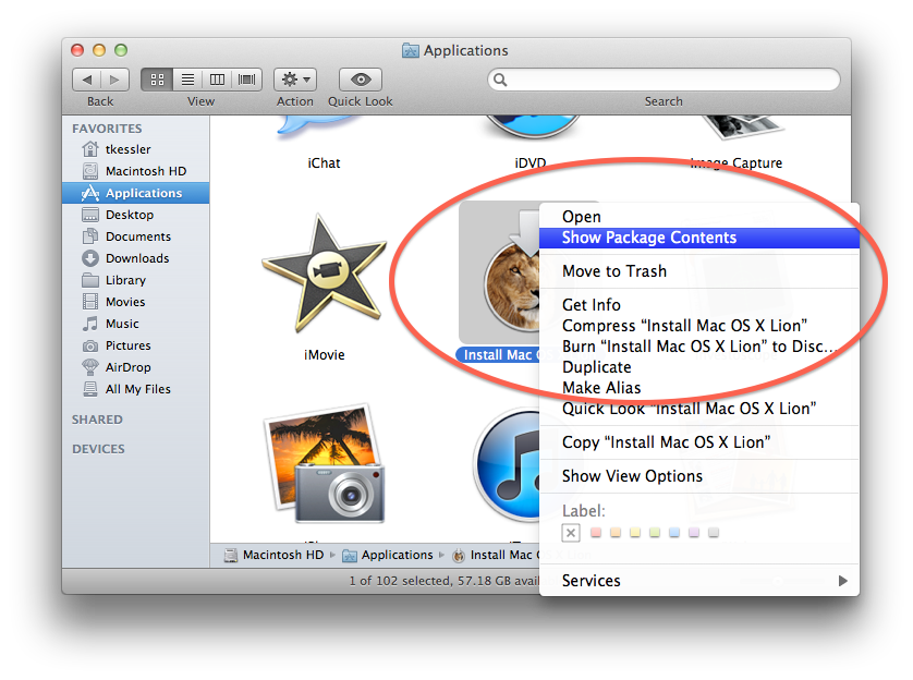 How to create png image on mac. An os x lion