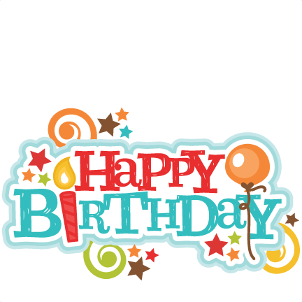 Happy 1st birthday png. Title svg scrapbook cut