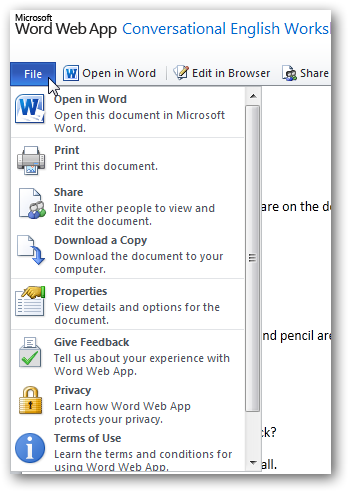 How to edit a png file in word. Office web apps documents