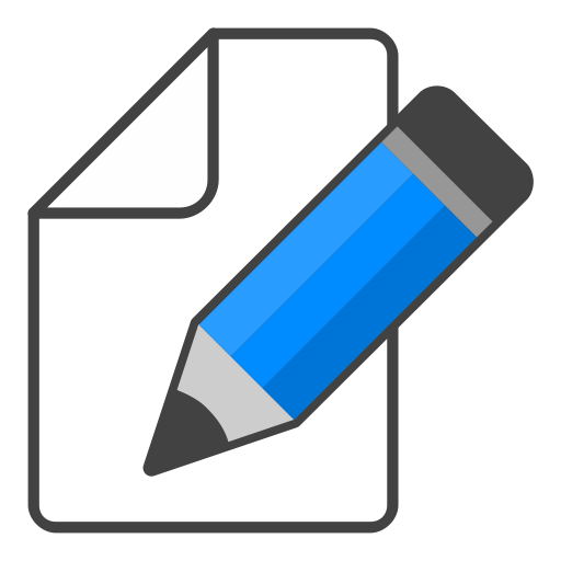 How to edit a png image. Icon blue pencil free