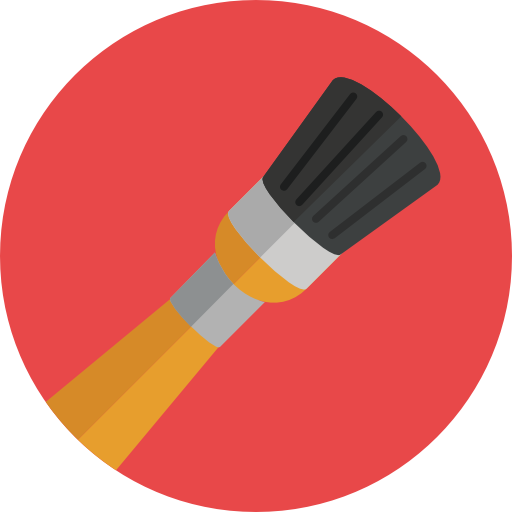 Paint icon png. Free download brush color