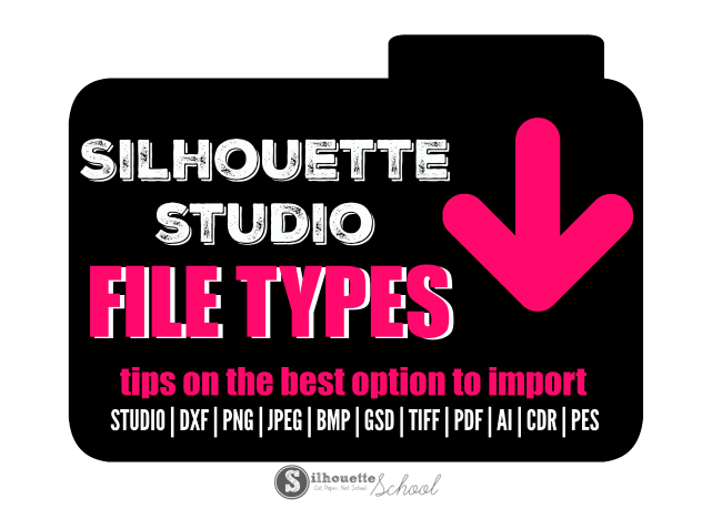 How to edit png image in silhouette cameo. Studio file types avoiding