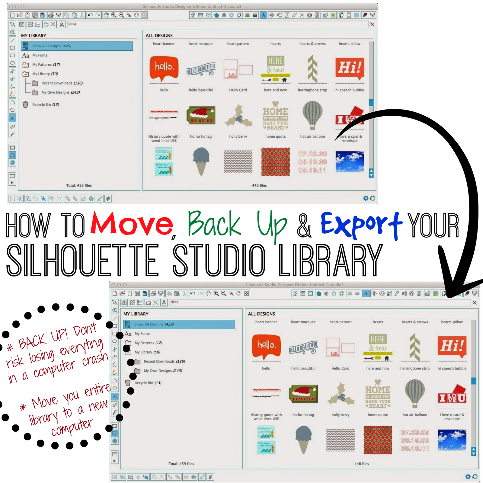 Save silhouette file as png. How to back up