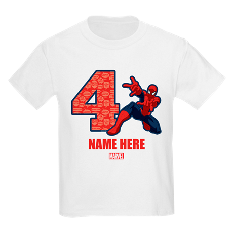 How to embed the color space png shirt print. Spider man personalized birthda