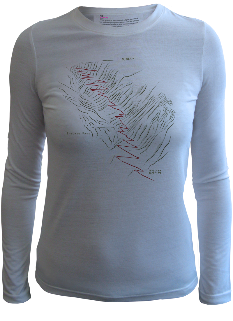 How to embed the color space png shirt print. Stelvio pass t by