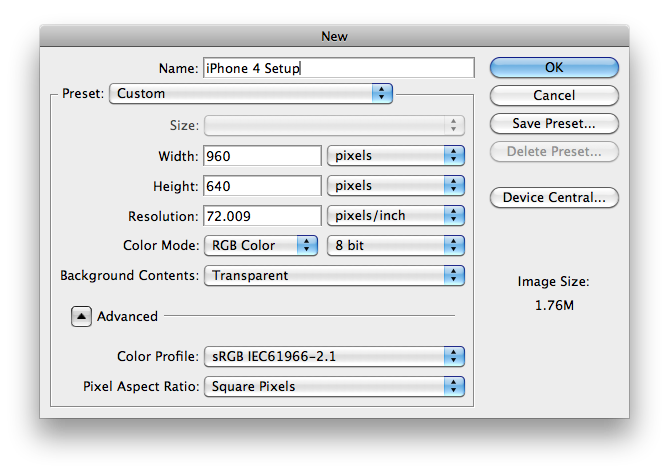 How to export as png in photoshop. Design basics for iphone