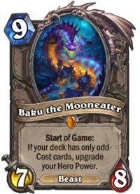 How to fan a deck of cards for beginners png. Baku the mooneater hearthstone