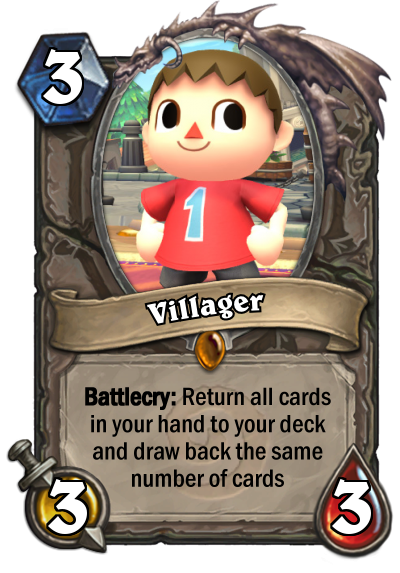 How to fan a deck of cards for beginners png. Hearthstone card villager by