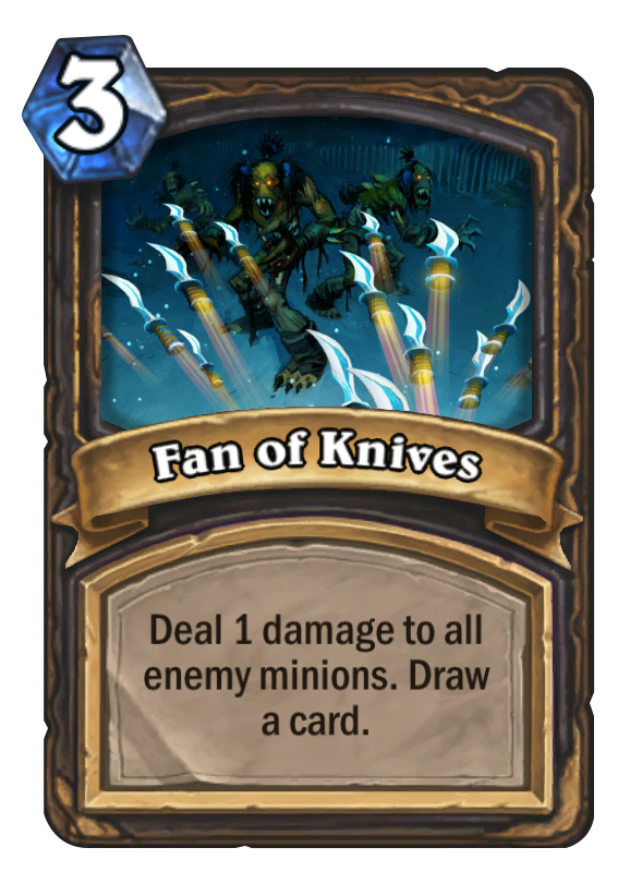 How to fan a deck of cards for beginners png. Knives hearthstone card top