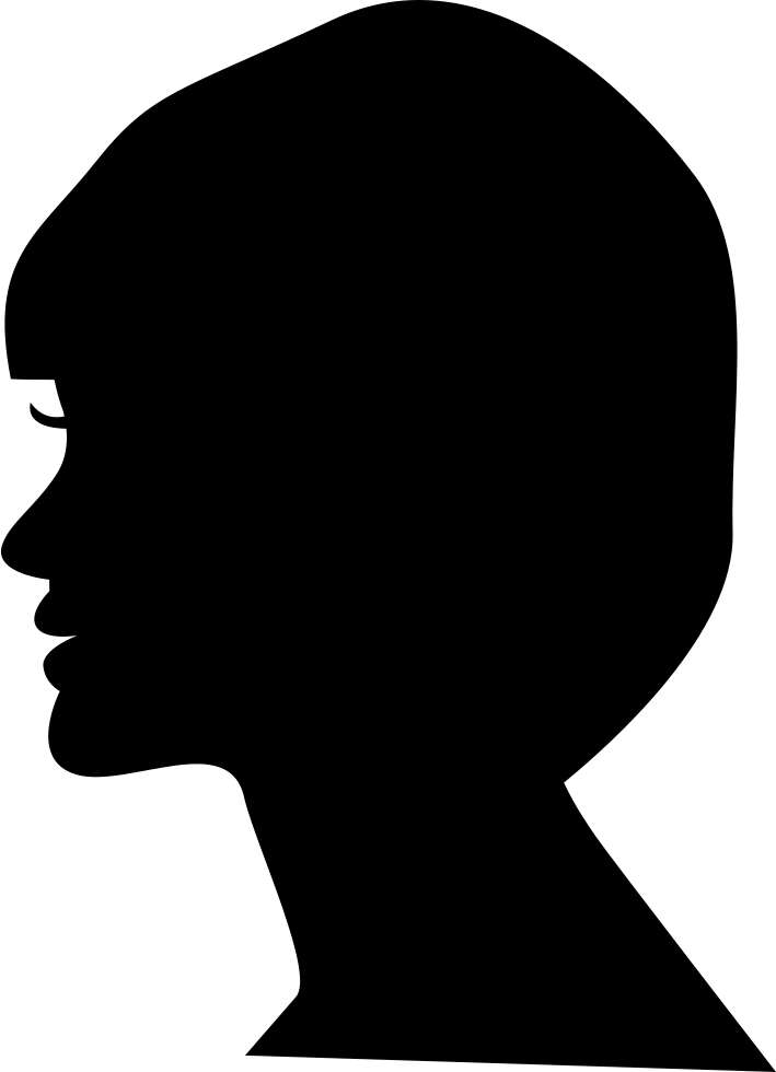How to import png files into silhouette. Woman head side view