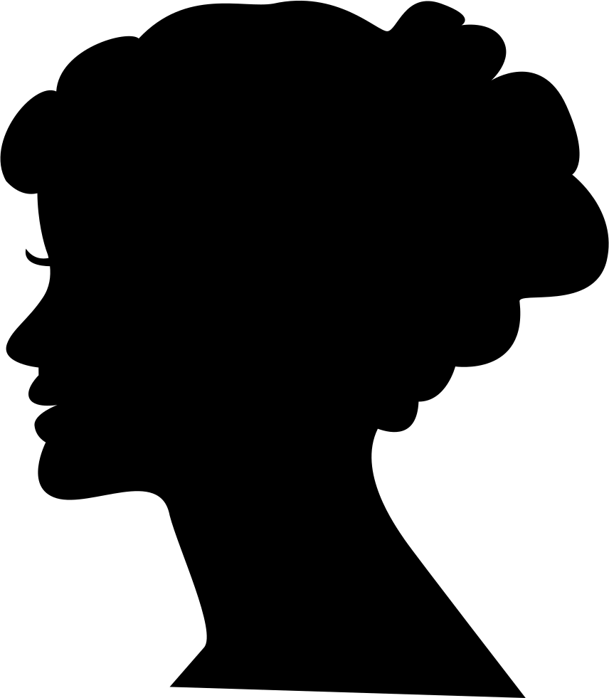 Silhouette head png. Female svg icon free