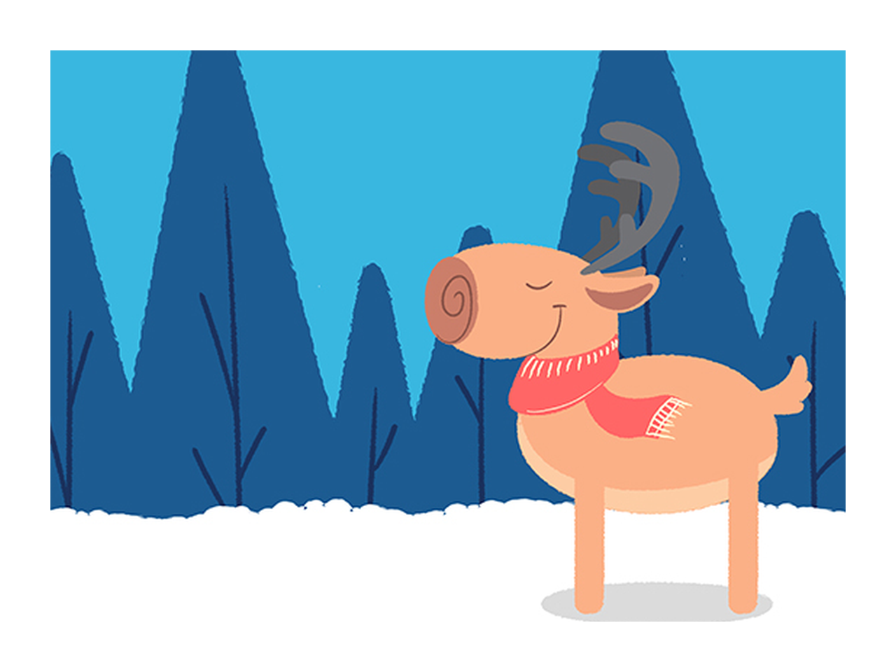 How to import png into after effects. Animate a jumping reindeer