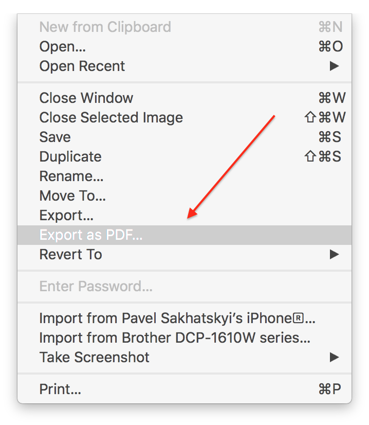 How to make a png into a pdf. Create on your mac