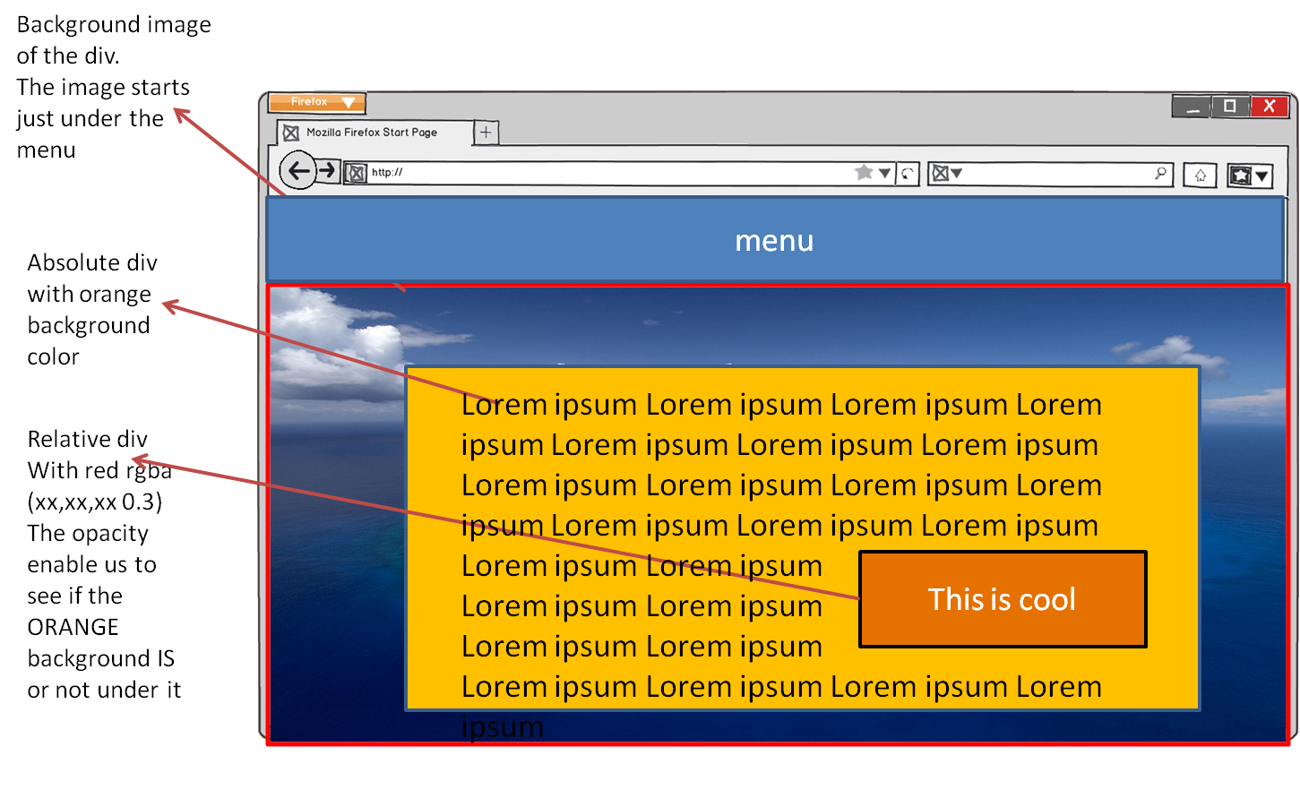 How to make a png background transparent. Div inside while keeping