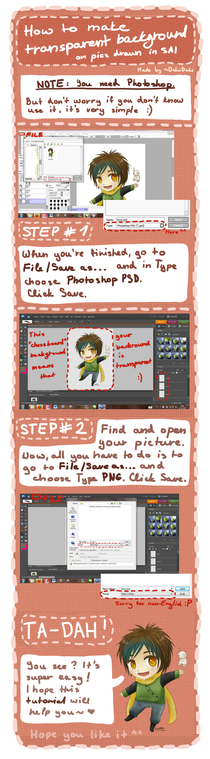 How to make a png background transparent. Tutorial on sai picture
