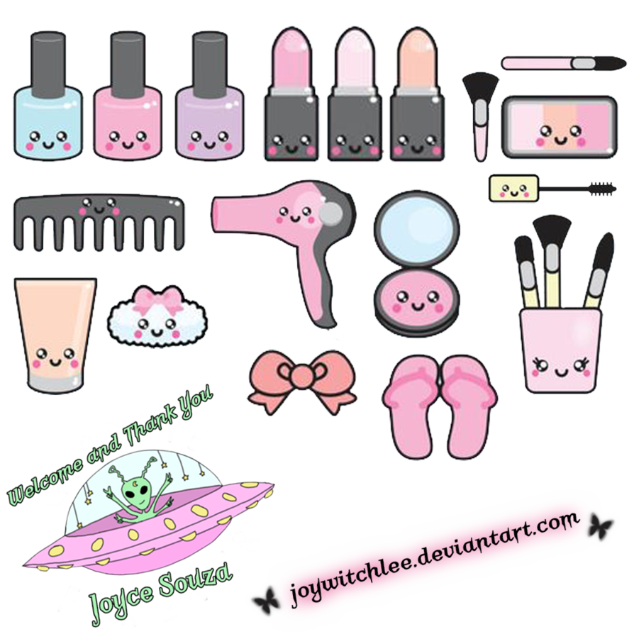 Kawaii welcome png. Make up pack by