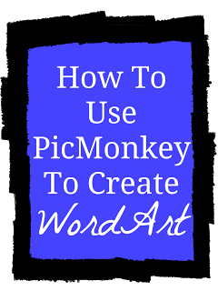 How to make a png on picmonkey. Use create word art
