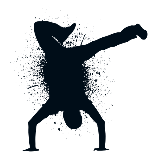 How to make a transparent png in paint. Street dance splash silhouette