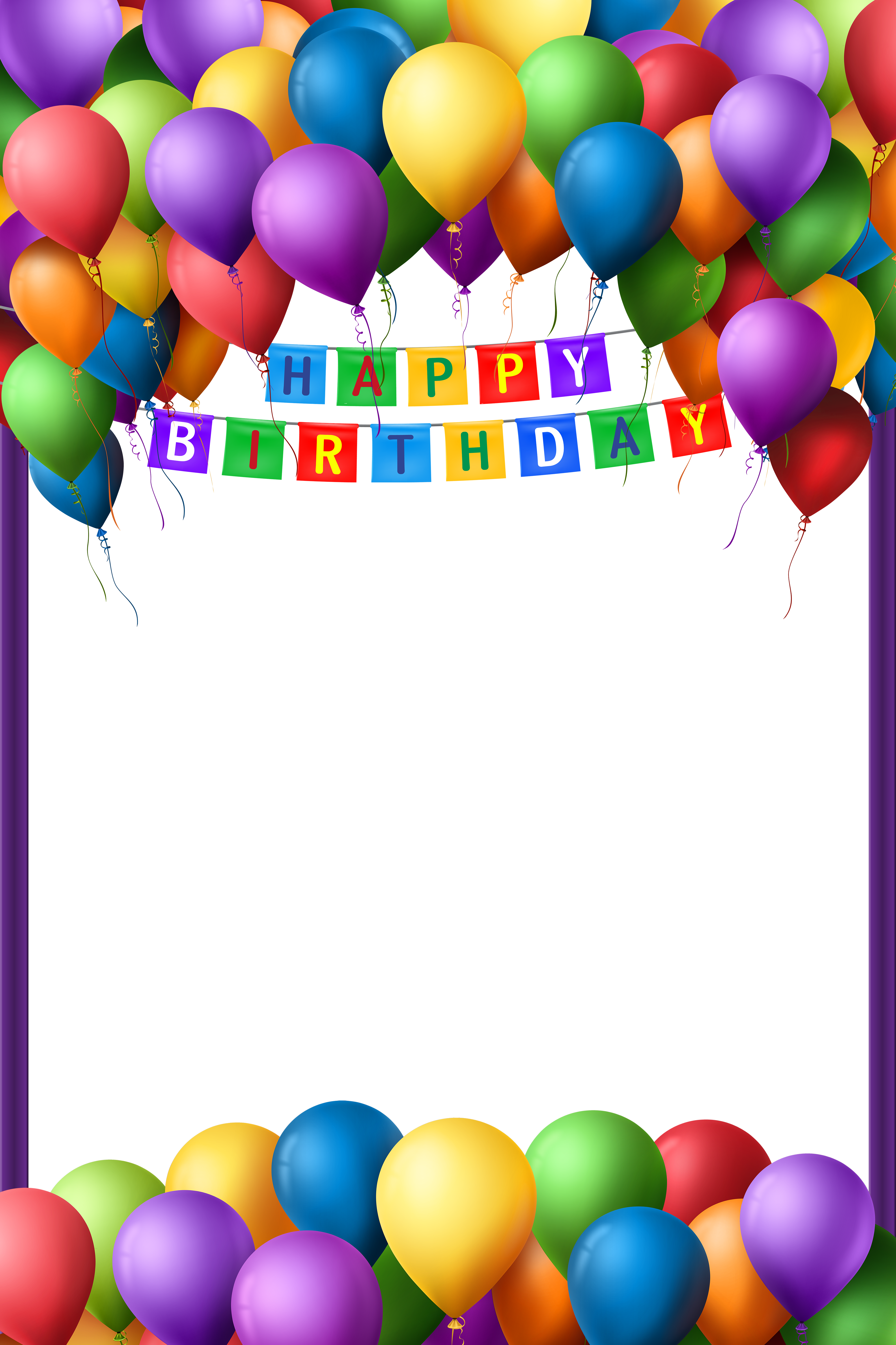 Transparent png gallery yopriceville. Frame clipart happy birthday svg black and white stock