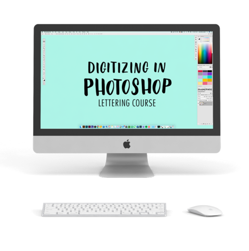 How to make png on photoshop. Digitize in twoeasels lettering