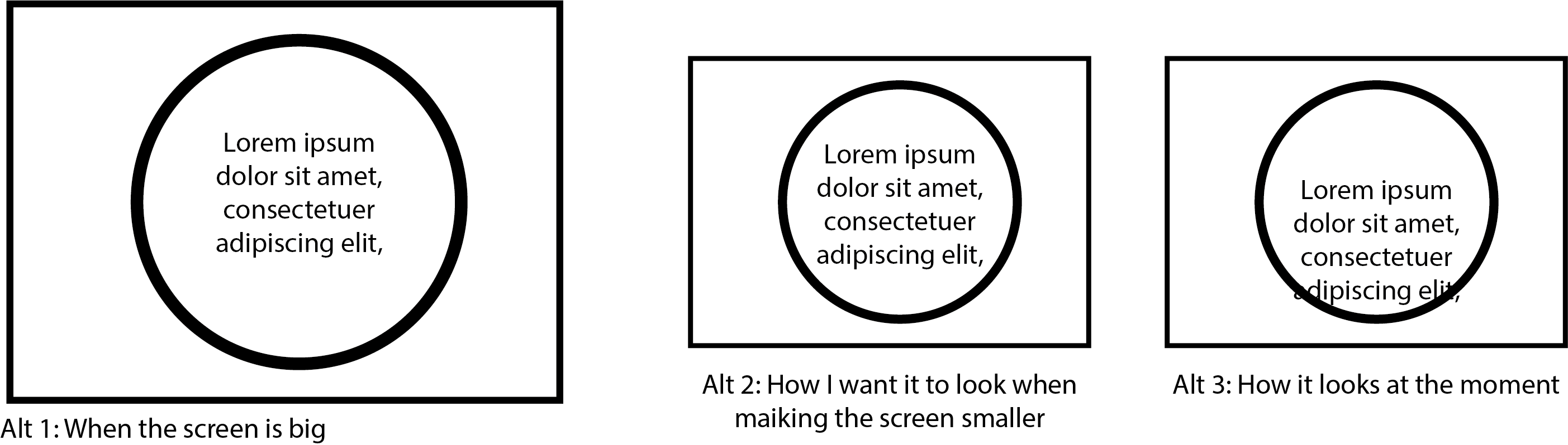 How to make text png. Html in responsive circle