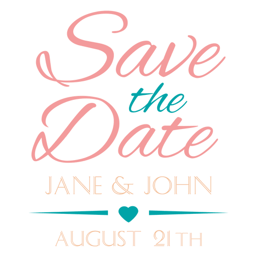 save the date stamp png