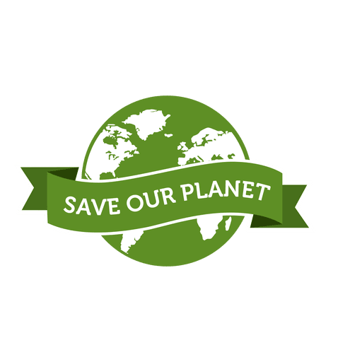 How to save a transparent png. Our planet badge svg