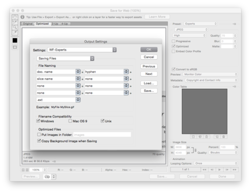How to save photoshop file as png. Export advanced options for