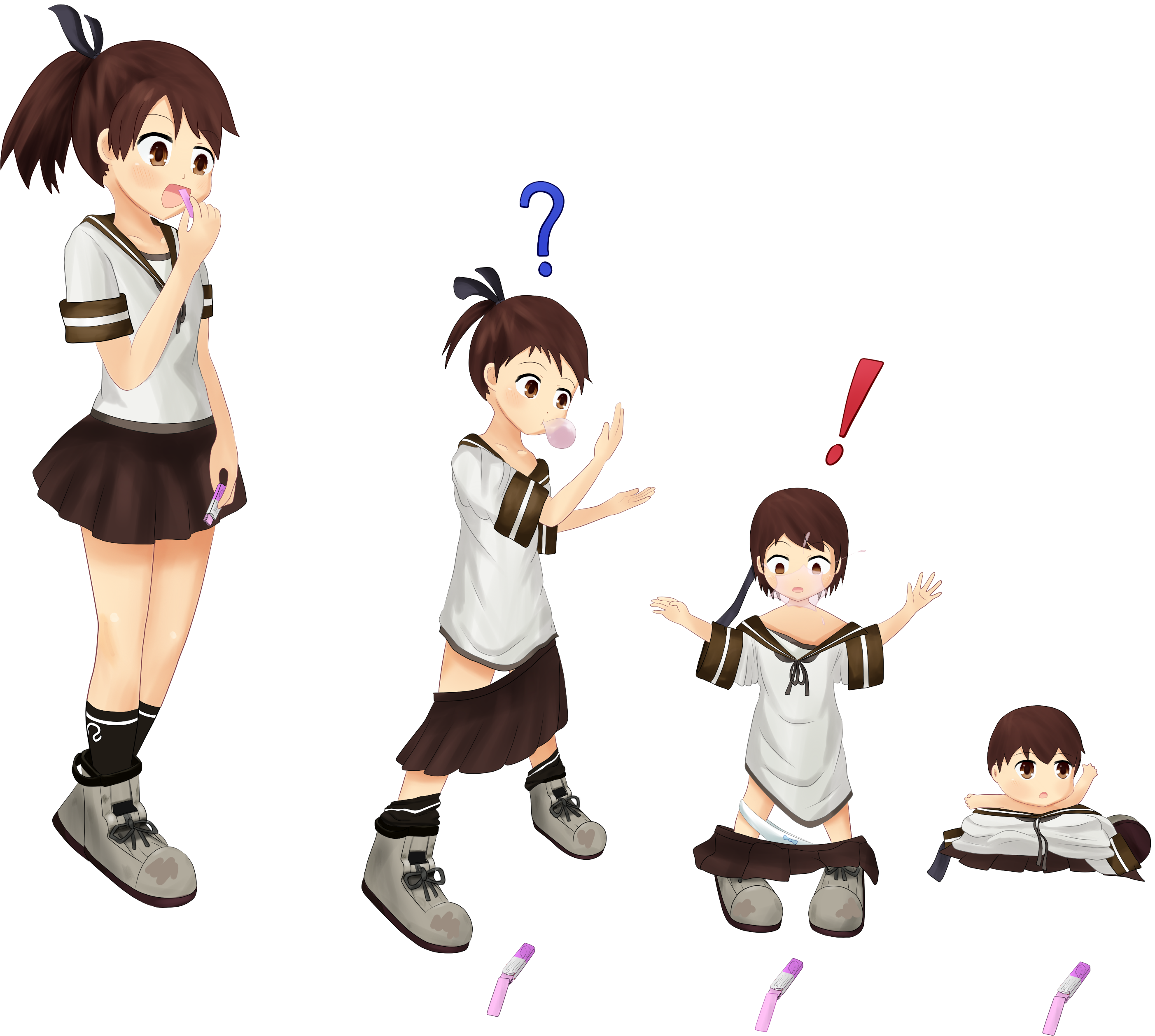 How to turn a photo into a png. Shikinami regression by