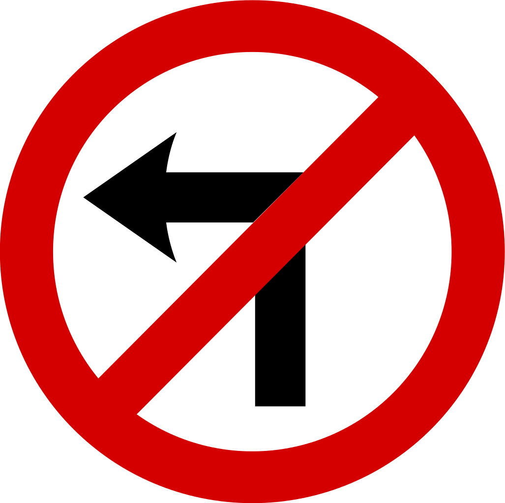 How to turn image to png. No left traffic sign
