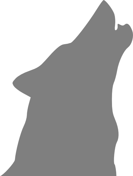 Howling clipart cartoon. Gray wolf clip art