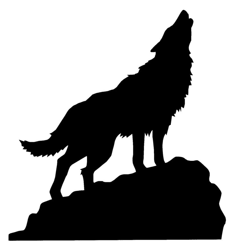 Howling clipart silhouette. Wolf on a hill