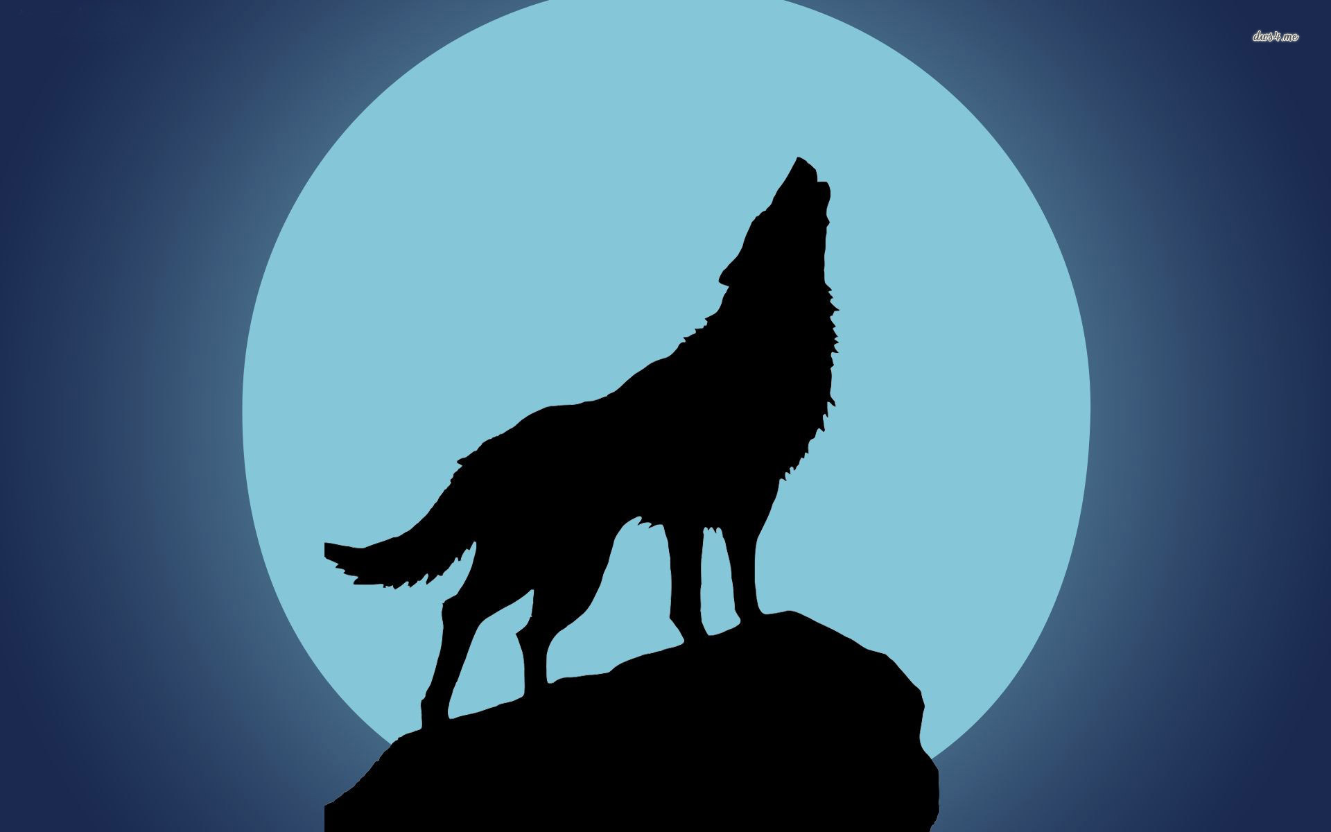 Howling clipart silhouette. Wolf at the moon