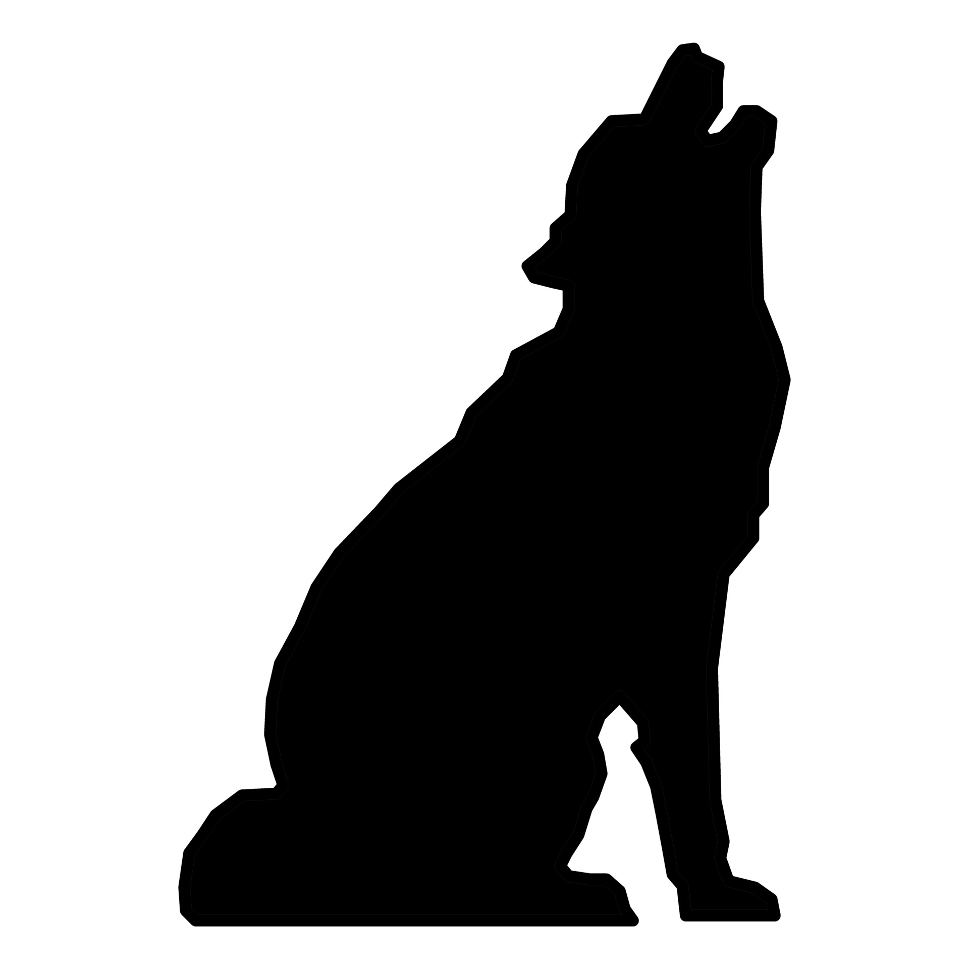 Howling clipart silhouette. Wolf at getdrawings com