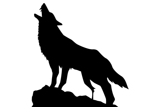 Howling wolf png. Silhouette moon at getdrawings