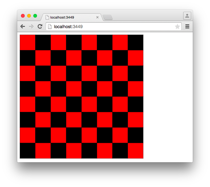 Checkered drawing checkers board. Github bobbywilson cljs gameboard