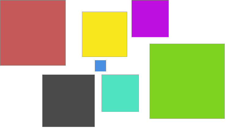 Html drawing rect. Create random rectangles with