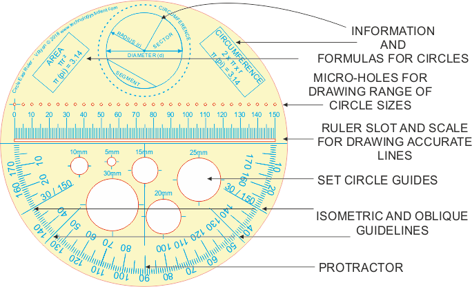 Protractor drawing pencil. Circle easi ruler and