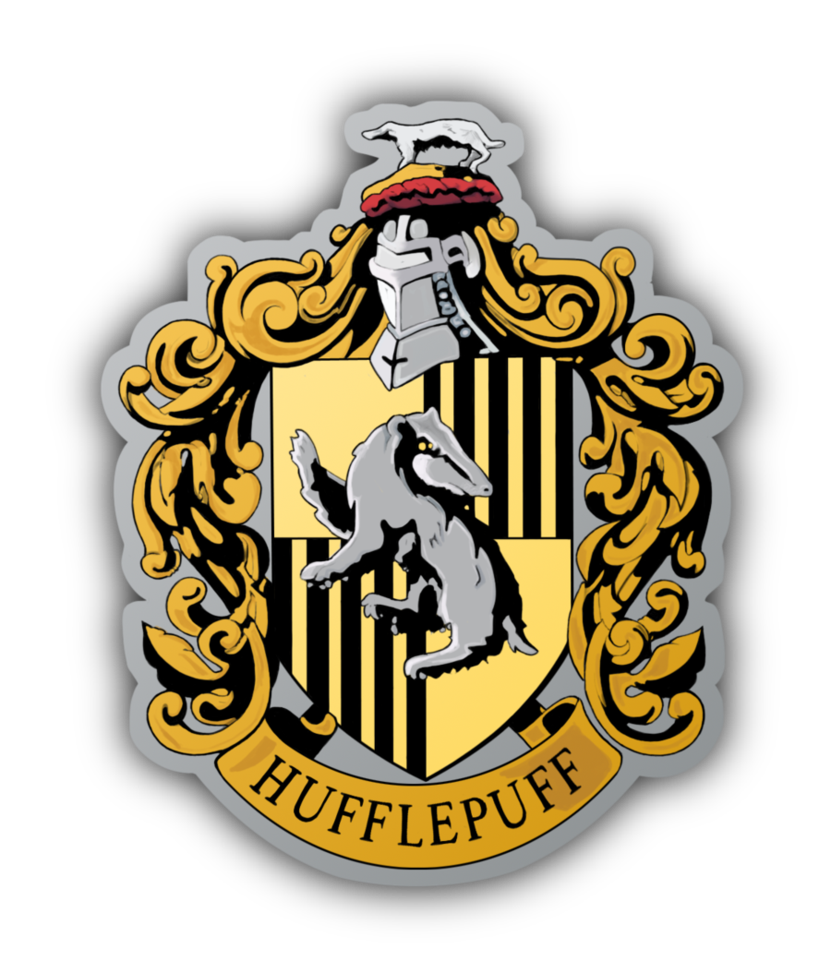 Hufflepuff crest png. Yes i am a