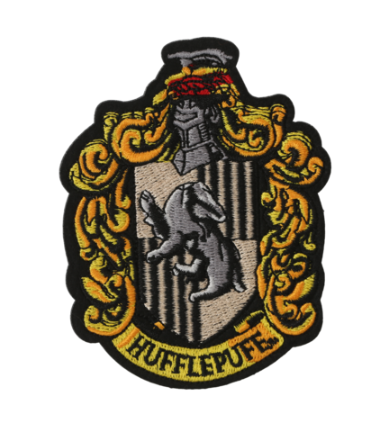 Hufflepuff crest pottermore png. Embroidered patch harry potter
