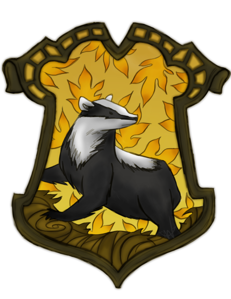 Hufflepuff crest pottermore png. By anchoredtether on deviantart