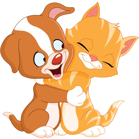 Hug clipart animal. Happiness is a and