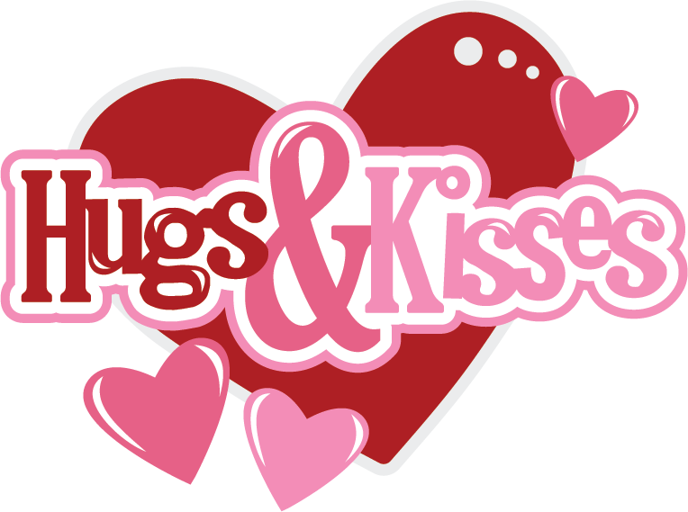 Kiss clipart goodbye hug. Png black and white