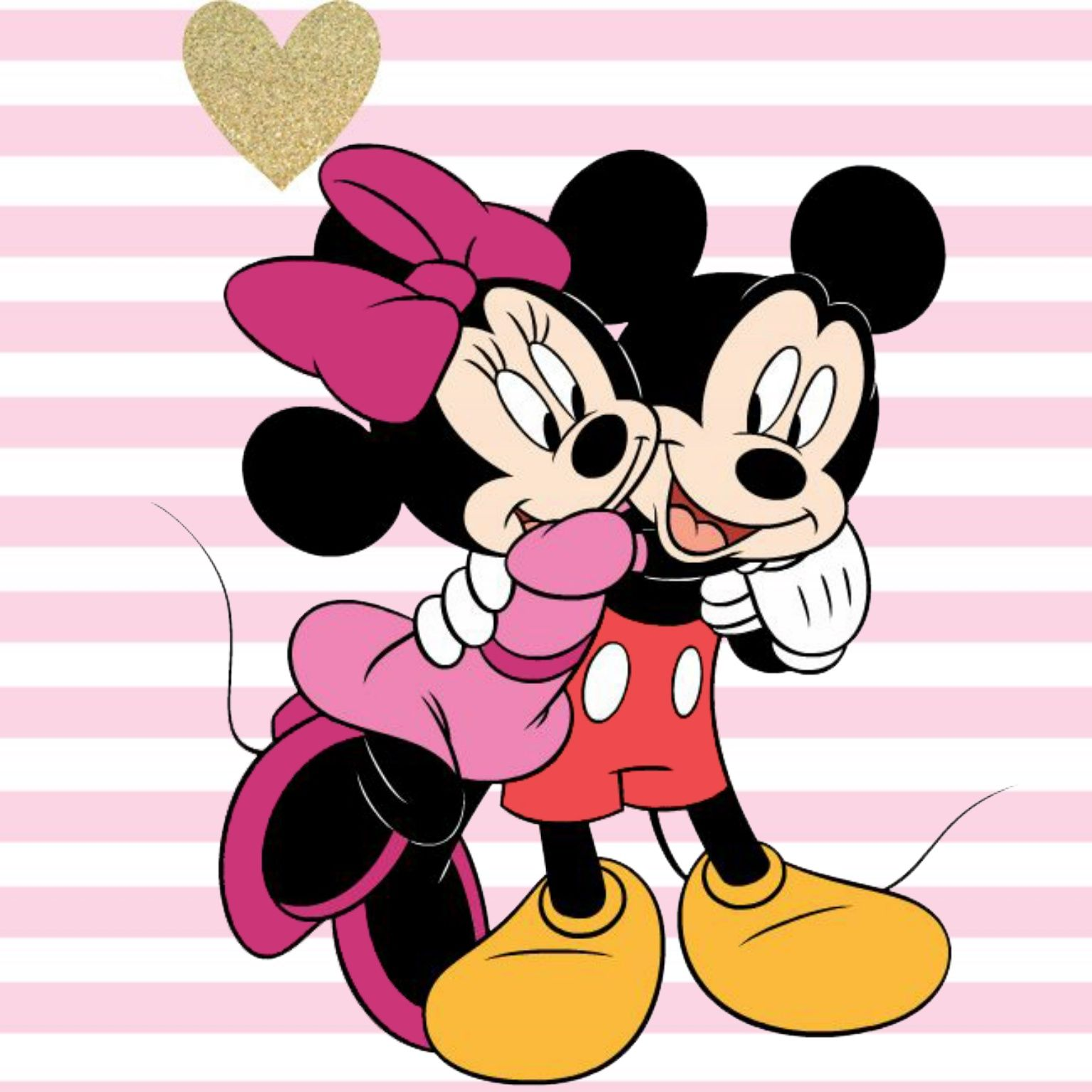 Hug clipart mickey mouse. Minnie giving a to