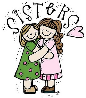The meaning and symbolism. Sister clipart one sister graphic black and white stock